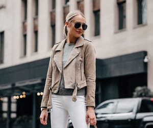leather jacket, moda, and vogue image