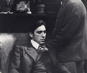 The Godfather, al pacino, and black and white image