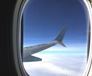 airplane, blue sky, and inspiration image