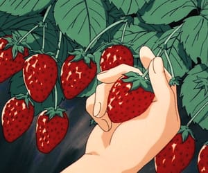 strawberry, anime, and aesthetic image