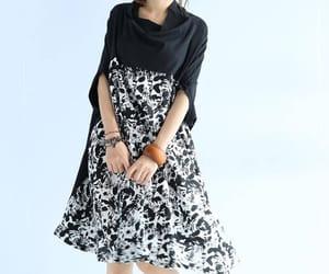 black dress, floral dress, and maxi dress image