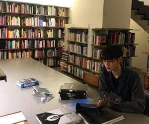 library, ulzzang, and ulzzang boy image