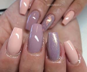 beauty, glitter, and lilac image