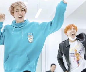 jin, hobi, and kim seokjin image