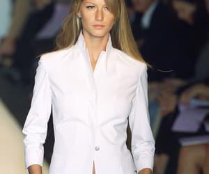 Gisele Bundchen, suit, and narciso rodriguez image