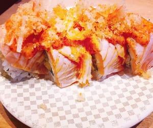 salmon, sushi, and japanesefood image