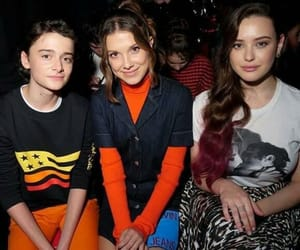 millie bobby brown, noah schnapp, and katherine langford image