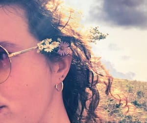 flower child, hippie, and nature image