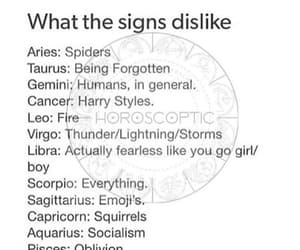 astrology, dislike, and horoscope image