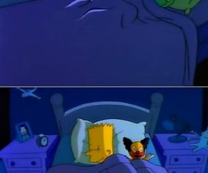 awake, bart simpson, and bed image