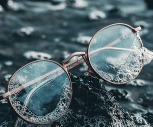 glasses, wallpaper, and sea image