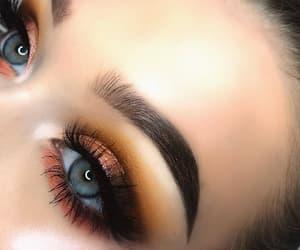 blue eyes, eyes, and makeup image