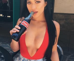 coca-cola, drink, and girl image