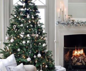 christmas tree, cozy, and decoration image