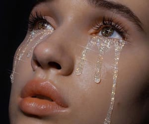 tears, glitter, and cry image