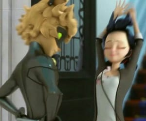 Adrien, miraculous, and chatnoir image