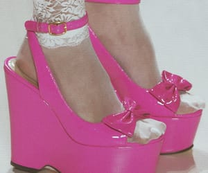 betsey johnson, pink, and shoes image