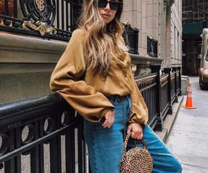 beauty, denim, and fall image