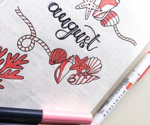 red, writing, and bujo image