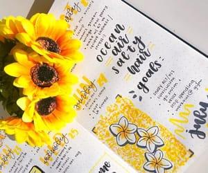 sunflowers, yellow, and bujo image