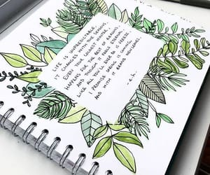 green, writing, and bujo image