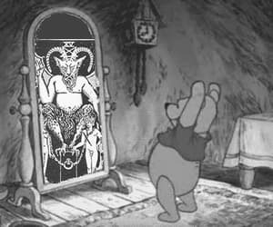 666, black&white, and occult image