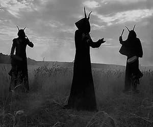 666, black&white, and creepy image