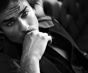 black&white, handsome, and ian somerhalder image