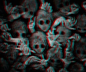 black&white, creepy, and horror image