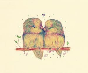 birds, love, and kiss image