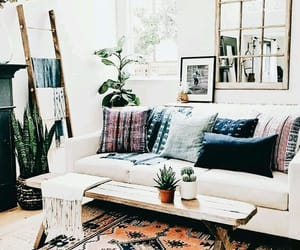 bohemian, boho, and carpet image