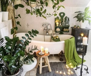 bathroom, inspiration, and plants image