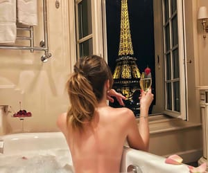 girl, paris, and relax image