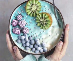 food, kiwi, and blueberry image