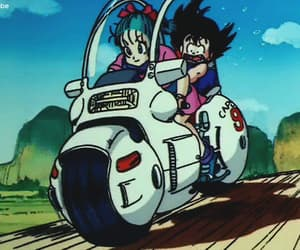 anime, son goku, and bulma image
