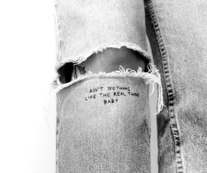 fashion, black and white, and jeans image