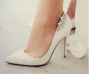 heels, bridal, and chic image