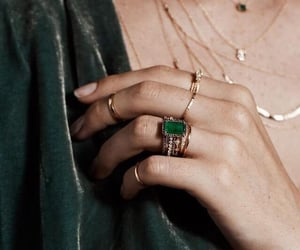green, rings, and jewelry image