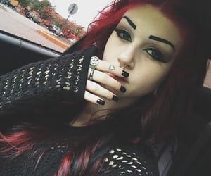 alternative, dark makeup, and pale skin image