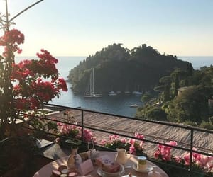 atmosphere, breakfast, and calm image