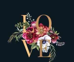 background, love, and flowers image