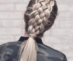 braid, bun, and curly image