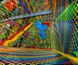 playground, rainbow, and kidcore image