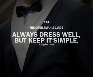 gentleman, quotes, and dress image