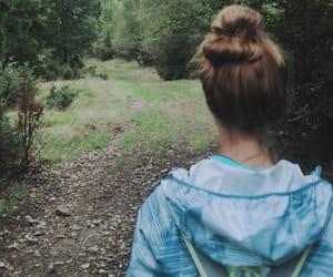 aesthetic, hike, and girl image