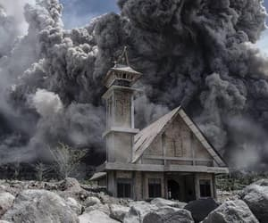 church, abandoned, and indonesia image