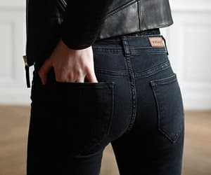 black, fashion, and jeans image