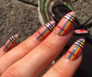 nails and Burberry image