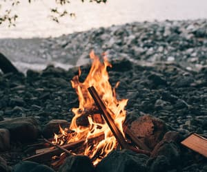 fire, nature, and autumn image