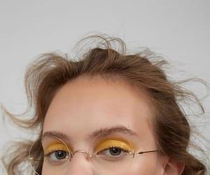 girl, yellow, and makeup image